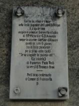 Convento Michetti, targa