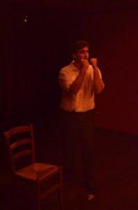 Antono De Nitto nel monologo Rukelie